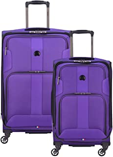 DELSEY Paris Sky Max 2.0 Softside Expandable Luggage with Spinner Wheels, Purple, 2-Piece Set (21/25)