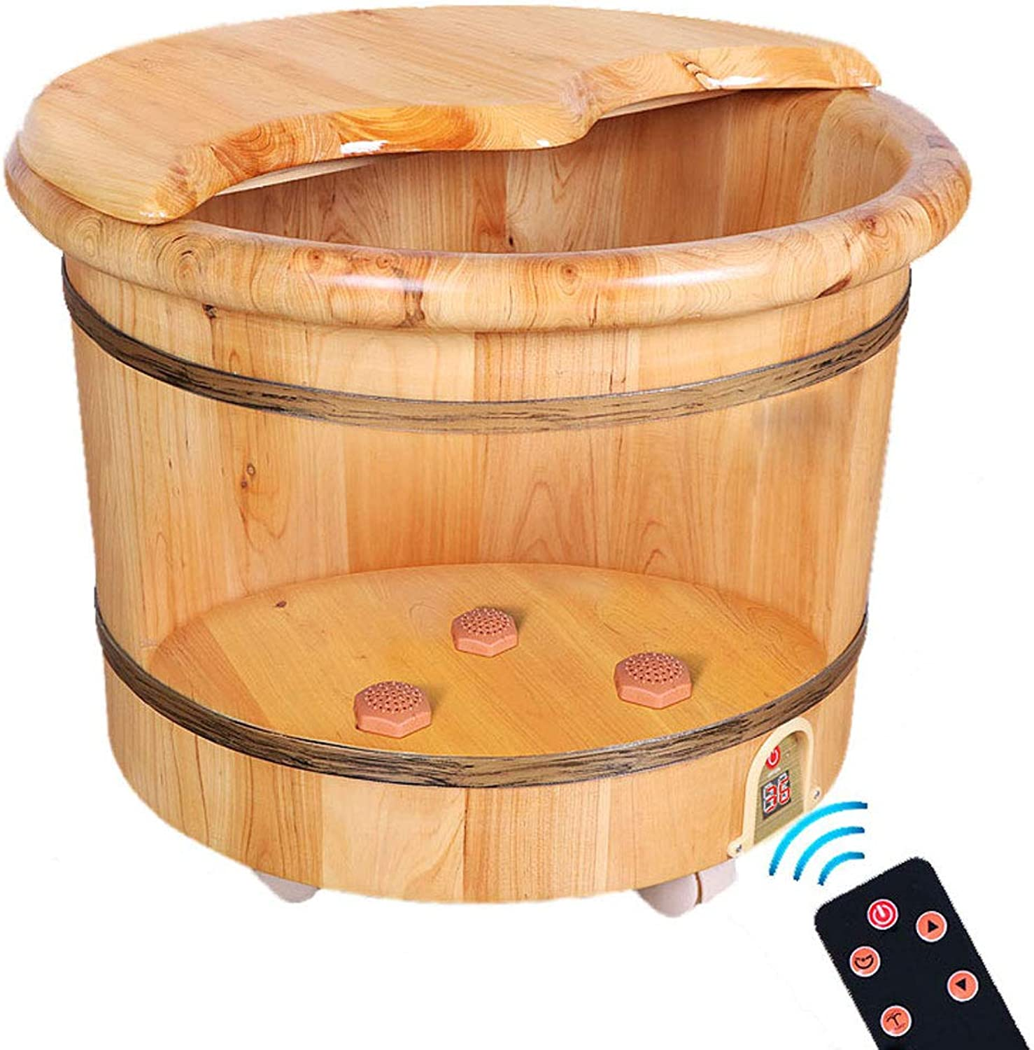 CJZYP123 Foot Tub, Constant Temperature Heating Foot Bath Barrel Foot Washing Home Insulation Intelligent Remote Control Operation