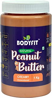 Bodyfit Natural Peanut Butter Creamy Unsweetened -1 KG