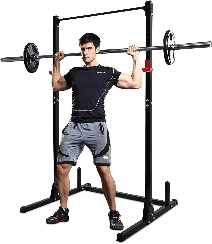COSTWAY Squat Rack Power Rack Fitness-Rack Kraftstation Gewichtsscheiben-Stnder Langhanteltraining 115 x 126 x 210cm