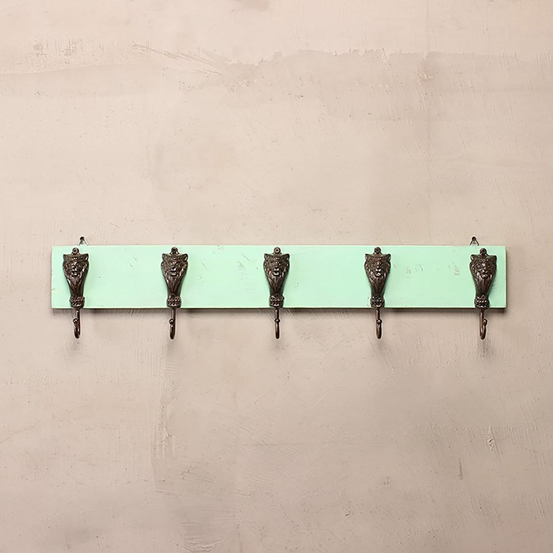 Wall Mounted Coat Hook Rack Solid Wood Hanger Sturdy Bedroom Living Room Multifunction Coat Rack (color   D)