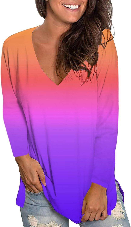 Tie Dye Sweatshirts Women,Womens Plus Size Long Sleeve Sweatshirt Round Neck Fashine Tie Dye Print Pullover Shirts