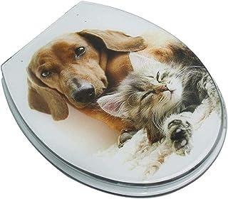LYQQQQ Toiletbril Schattig dierlijk toiletdeksel met stille vertraging ureum-formaldehyde hars ultra resistente top vaste ...