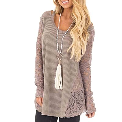 Jeanewpole1 Womens Lace Long Sleeve Tunic Top C...