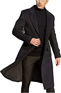 Men's French Wool Coat Business Down Jacket Trench Topcoat Long Peacoat
