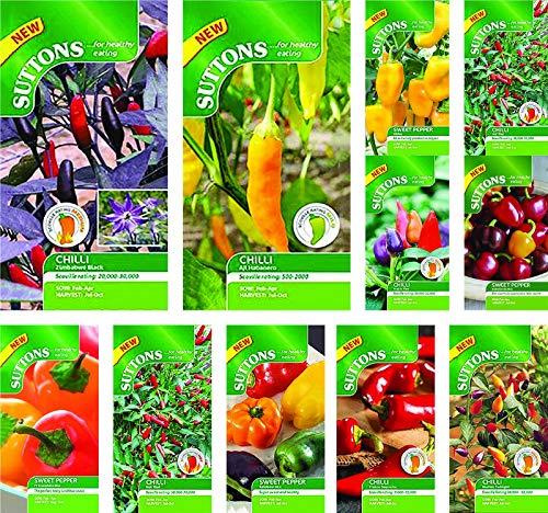 Portal Cool Chili-Schote Fresno Supreme: Suttons Seeds Chili-Samen-Pakete. Wählen Sie aus unserer Auswahl