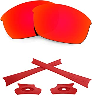 HKUCO For Oakley Flak Jacket Mens Replacement Lenses Earsocks Rubber Kit