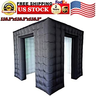 Photo Tent, Inflatable LED Photo Tent Portable Photo Booth Enclosure Shooting Tents Photo Backgrounds House Black Air Photo Booth Cube with Led Lights and Inner Air Blower for Party, Wedding, Birthday