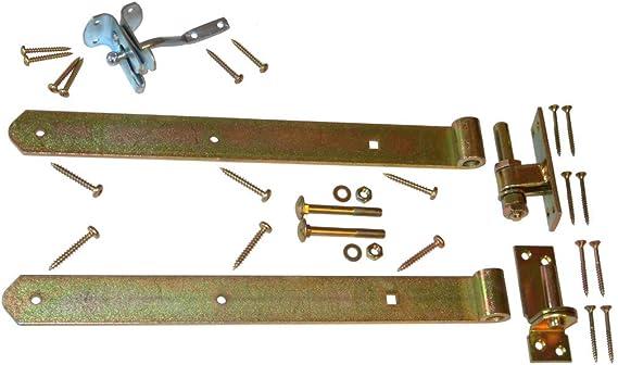 kdi // V2A Edelstahl Schrauben verschraubt StaketenT/ür Standard 100x60//60 cm aus frischem Holz gehobelt gerade Ausf/ührung gerade kesseldruckimpr/ägniert
