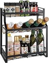 JAD@ Countertop Shelf Home Kitchen Shelf Countertop Floor Rack Three-Tier Storage Rack Seasoning Shelf Soy Sauce Salt Vinegar Storage Rack Stable