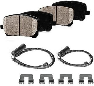 CPK01894 REAR Performance Grade Quiet Low Dust [4] Ceramic Brake Pads + [2] Pad Sensors + Hardware