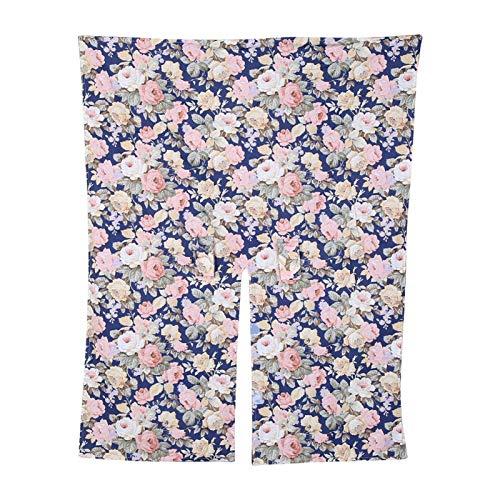 Funda de enfermería 3 en 1, material de algodón y poliéster para mujeres que amamantan en verano y otoño, resistente al viento y a la sombra(Navy blue flowers)