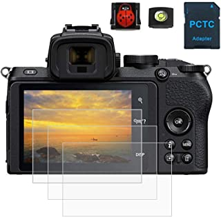 PCTC Tempered Glass Screen Protectors Compatible for Nikon Z50 Z 50 Digital Camera (3 Packs)