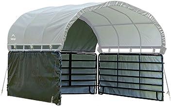 ShelterLogic 12' x 12' Equine, Livestock, and Agricultural Corral Shelter Shade..