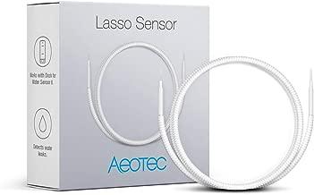 Aeotec Water Sensor 6 for Home Security Z-Wave Plus Water Leak Detector Smart Flood Sensor Freeze Sensor Temperature Detector (Lasso Sensor)