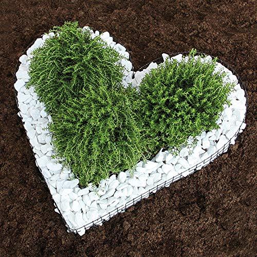 Herz Gitter Grabschmuck Grabgestaltung Pflanzschale, Gabionen-Pflanzgefäß für Balkon, Terrasse und Garten ? mit Zierkies !!!!