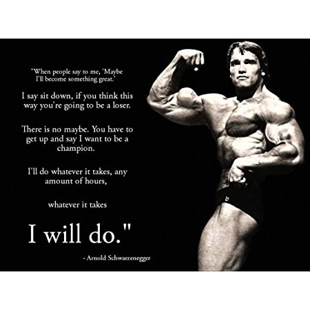 Remarkable Poster's Arnold Schwarzenegger Inspirational Bodybuilding 12 x 18 Inch Poster Ultra HD Multicolour Unframed Rolled Print Great Wall Decor