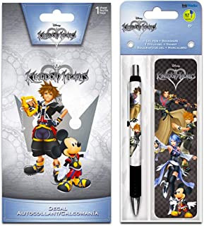InkWorks Disney Kingdom Hearts Pen, Bookmark and Decal Sticker Set (Kingdom Hearts Merchandise)
