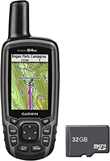 Garmin GPSMAP 64st Worldwide Handheld GPS with1 Yr. Birdseye Subscription and Preloaded TOPO U.S. 100K Maps + 32GB MicroSD Memory Card Bundle