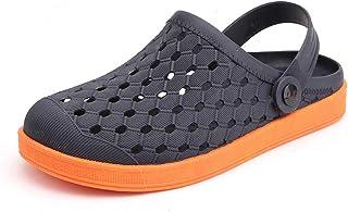 FDSVCSXV Zueces para Adultos Mules Zapatos de jardín, Zapatillas Secado rápido Transpirable livianas resbalones en los par...