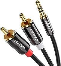 UGREEN Cable Audio Estéreo Jack 3,5mm a 2RCA Macho a Macho con Conectores Metálicos para Móvil iPod Smart TV Reproductor MP3 Tablet PC Amplificador Sistema Estéreo
