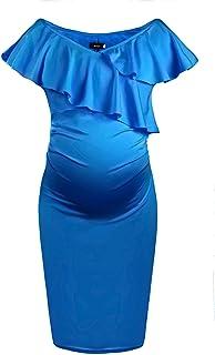 Dance Fairy Molliya Maternity Long Dress Women Ruffle...