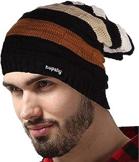 e1ab0d2a Hupshy Men's and Women's Woollen Knitted Slouchy Beanie Skull Cap (Free ...