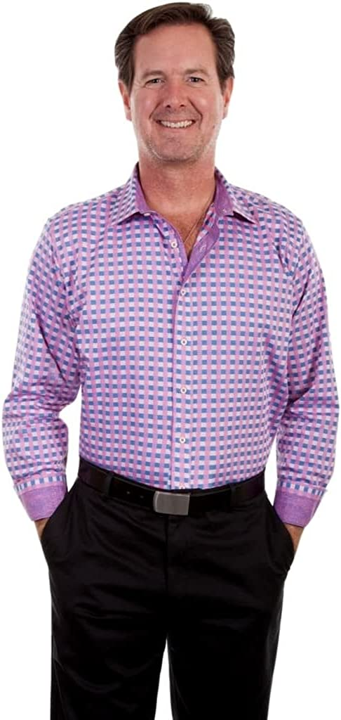 Scully Western Shirt Mens Top Shelf Checked L Button PS In stock S Max 55% OFF Razz