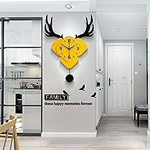 Wall Clock Wall Clock Watch Deer Home Mute Modern Minimalist Wooden Tables Hing Decorative Pm (45 * 70cm) LJJCUICAN