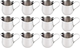 (12 Pack) 5-Ounce Stainless Steel Bell Creamer, 150 ml. Bell-Shaped Serving Cream Pitcher