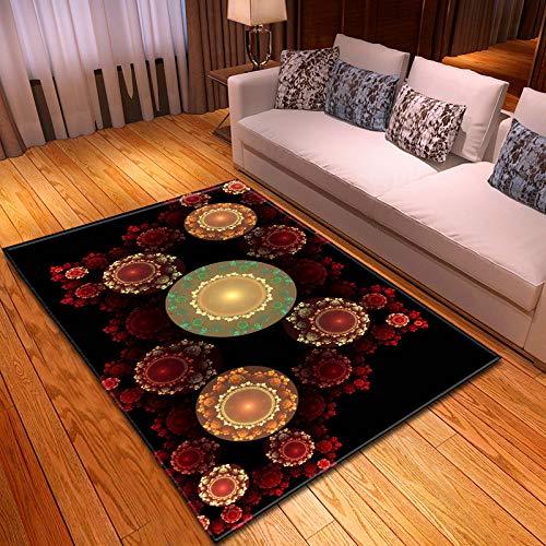 ZJMWQ Wohnzimmer Große Teppich Bodenmatte 3D Druck Waschbar Carpet Einfache Moderne Dekoration Schlafzimmer Nachtdecke Yoga Matte Garderobe Fuß Pad,E-150 * 200cm
