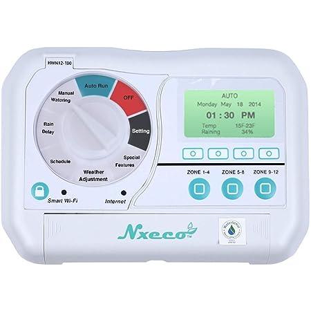 NxEco HWN12-100 Pro, Professional Grade Smart Sprinkler Controller, 12 Zone, Grayish White