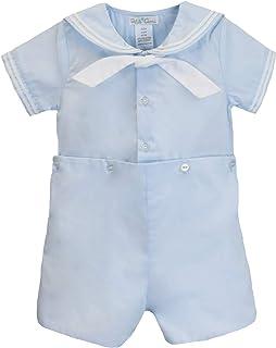 Petit Ami Baby Boys' 2 Piece Nautical Bobby Suit with Collar