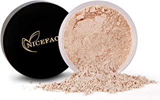 QIBEST Loose Face Powder, Translucent Tone Loose Face Powder, for Setting Makeup or as Foundation, Lightweight, Long Lasting (Powdery)