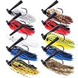 FREE FISHER 10pcs/Set Fishing Jigs,Bass Jigs Swim Jig with Weed Guard,Flipping Jigs Fishing Lures for Freshwater Saltwater