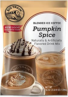 Big Train Blended Ice Coffee, Pumpkin Spice, 3.5 Pound, Powdered Instant Coffee Drink Mix, Serve Hot or Cold, Makes Blended Frappe Drinks