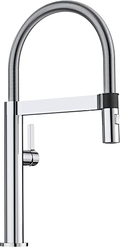 BLANCO, Polished Chrome 441622 CULINA MINI Semi-Pro Kitchen Faucet with Magnetic Handspray, 2.2 GPM
