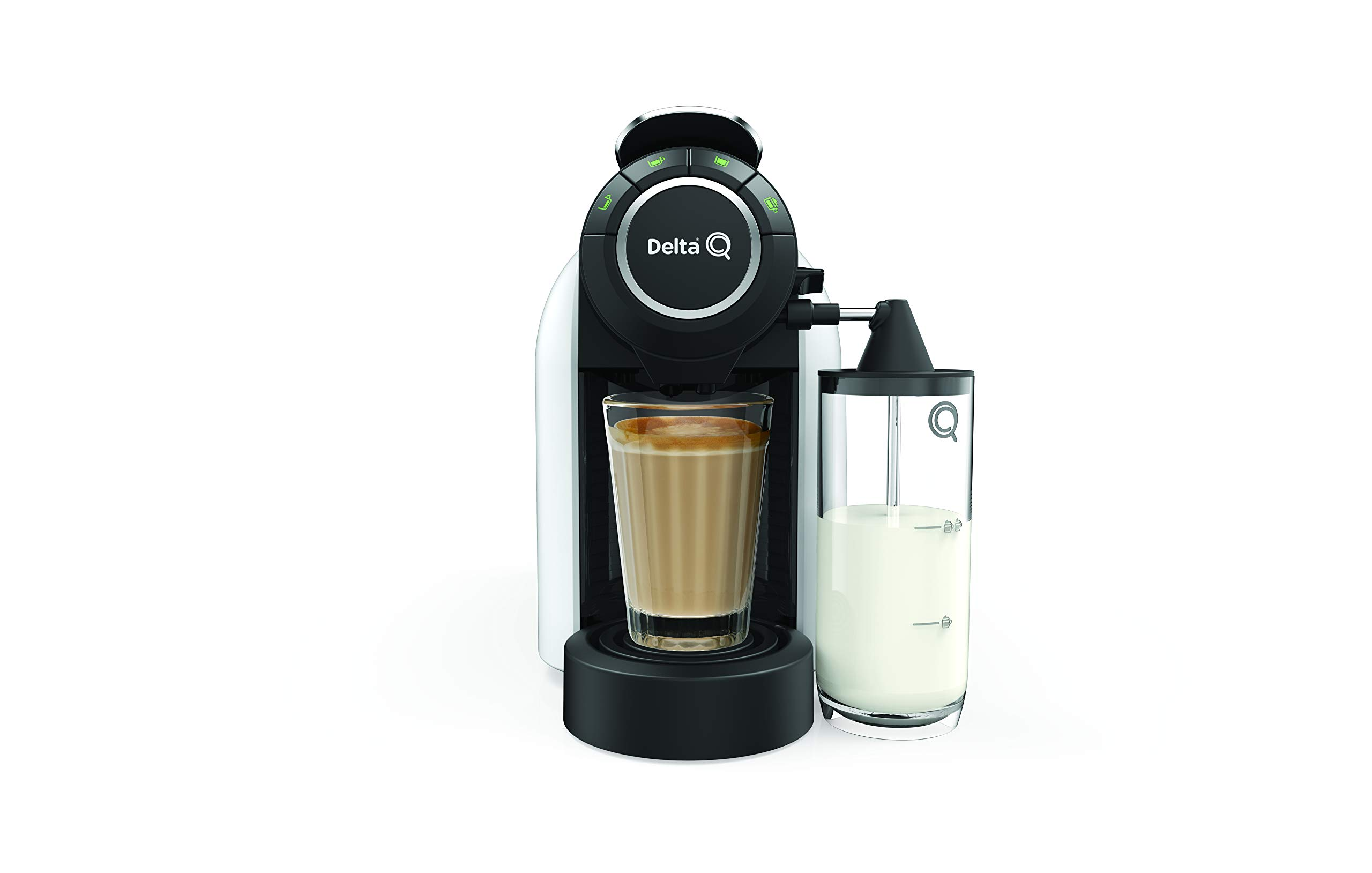 Delta Q - Cafetera Cápsulas MilkQool Evolution - Color Blanco ...