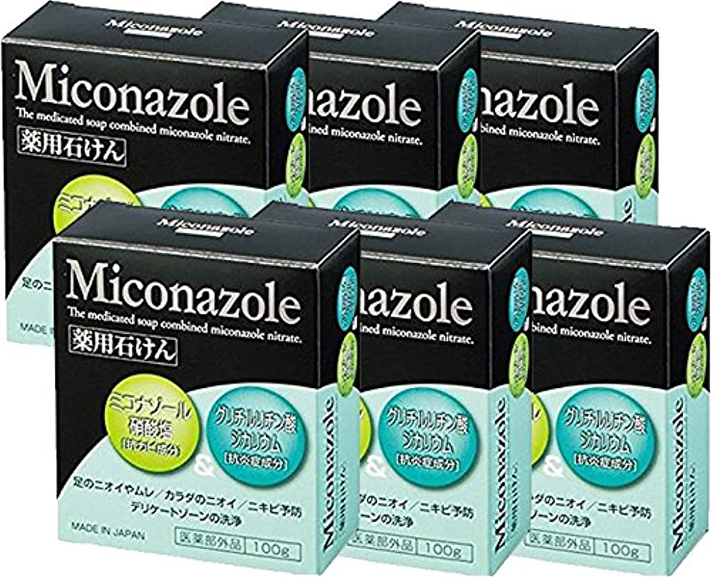 ピクニック姿勢しがみつくミコナゾール 薬用せっけん 100g 《医薬部外品》 (6個)