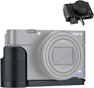 JJC Metal Hand Grip for Sony RX100 & Mark VI VA V IV III II (RX100 M6 M5A M5 M4 M3 M2) Anti-Slip Holder, w/Battery Memory Card Compartment Opening & Speaker Hole, Replace Sony AGR2 Attachment Grip