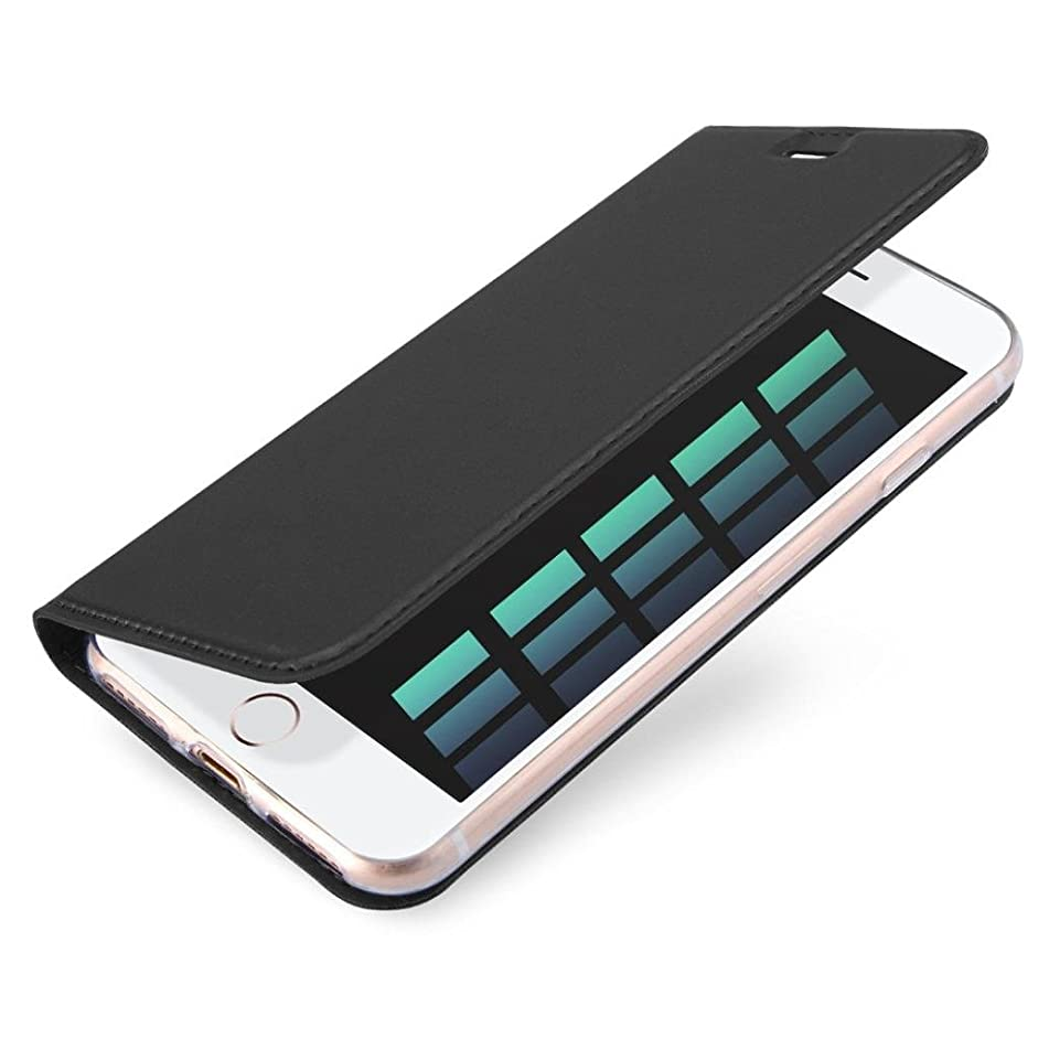 iPhone 8/7 Plus Case,AutumnFall 1PC 2017 New Magnetic Flip Leather Wallet Card Slot Slim Rubber Case Cover Stand For iPhone 8/7 Plus 5.5inch (Black)