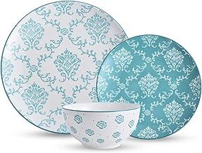 Original Heart Dinnerware Set Dishes Set Green Stoneware Plate Set12pcs Bowl and plate set