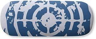 Blue Target Design Round Illustration Pattern Glasses Case Eyeglasses Clam Shell Holder Storage Box