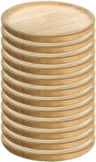 RuibalLot de 12 plats en bois, pour servir le poulpe, la pizza, la viande Ø 18 cm