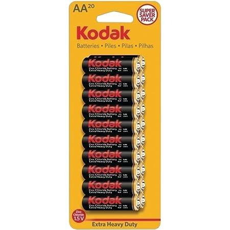 Amazon Com Kodak Kehdaa20 Extra Heavy Duty Aa Batteries 20 Pack Home Audio Theater