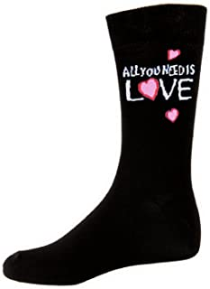 The Beatles All You Need Is Love Official Mens Black Socks (Uk Size 7-11)