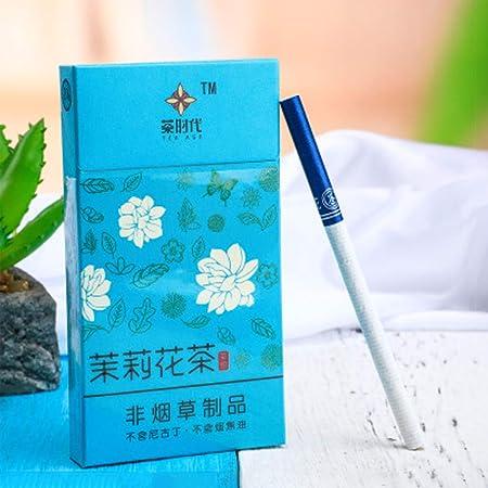 中国プエル茶 緑茶 紅茶 ジャスミン茶 烏龍茶 100%の無煙 なしニコチン 健康なお茶煙 禁煙 禁煙支援 (ジャスミン茶,1 パッケージ)