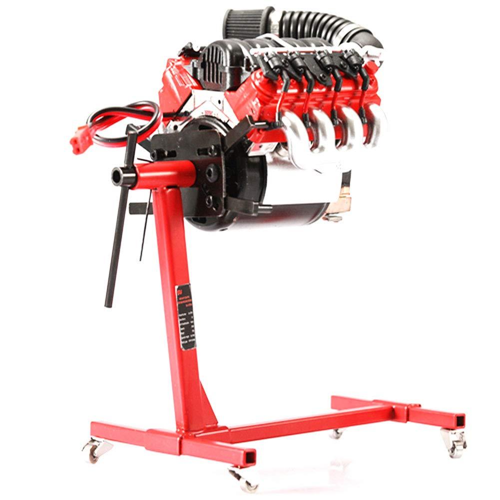 HIANG256 TRX4 SCX10 Engine Repair Bracket for Engine Steel Rotating Repair Stand Simulated Portable Stainless Steel Motor Engine Repair Shelf