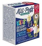 KILL-PAFF KIDS |Insecticida Eléctrico |Antimosquitos |Eficaz Contra Mosquito Tigre y Transmisores de Enfermedades Tropicales |Con Luz |Sin Olor|45 Noches de Protección |Contenido: 1 Dif + 1 Rec