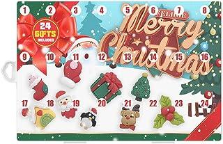 Calendrier de l'Avent de Noël SLDHFE, Calendrier de l'Avent de 24 jours de Noël, Calendrier de l'Avent avec tiroirs, Décor...